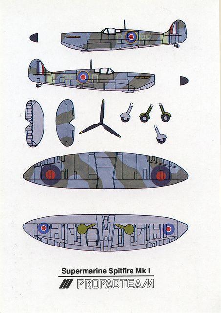 submarine spitfire mk i cut out postcard airplane paper models rh pinterest com