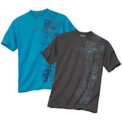 Photo of 2er-Pack T-Shirts mit Maori-Aufdruck Atlas For Men