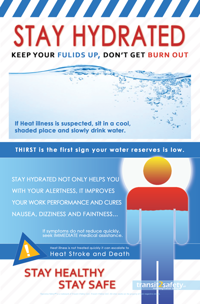 stay hydrated Safety posters, Health and safety poster