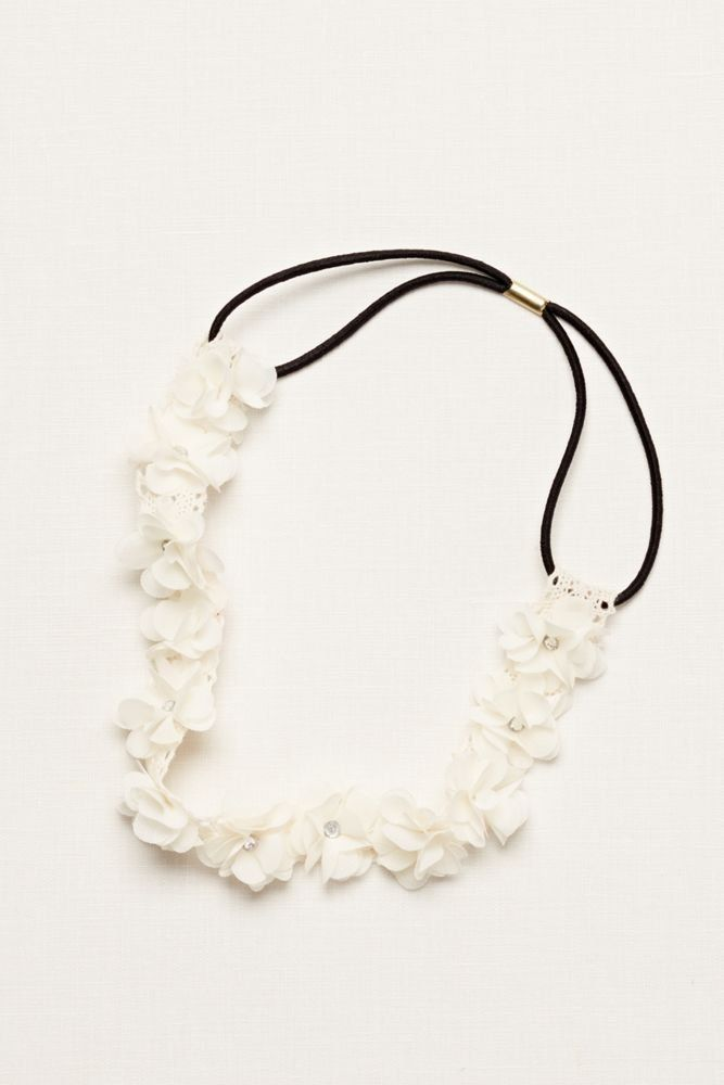 Flower Girl Flower Headband with Crystal Centers Style H516051, Ivory -- Details can be found by clicking on the image.