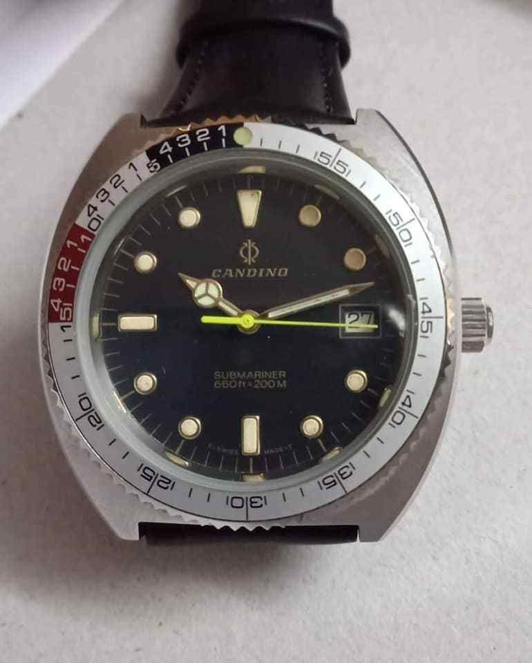 4384f4bf327 RARE VINTAGE CANDINO SUBMARINER DIVER S 200M AUTOMATIC MAN S WATCH  Candino   Diver