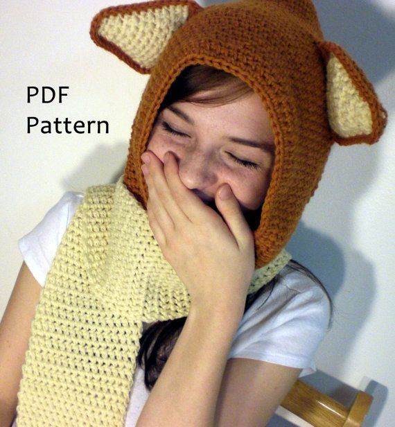 Crochet Fox Scoodie Pattern   Crochet   Pinterest   Gorros