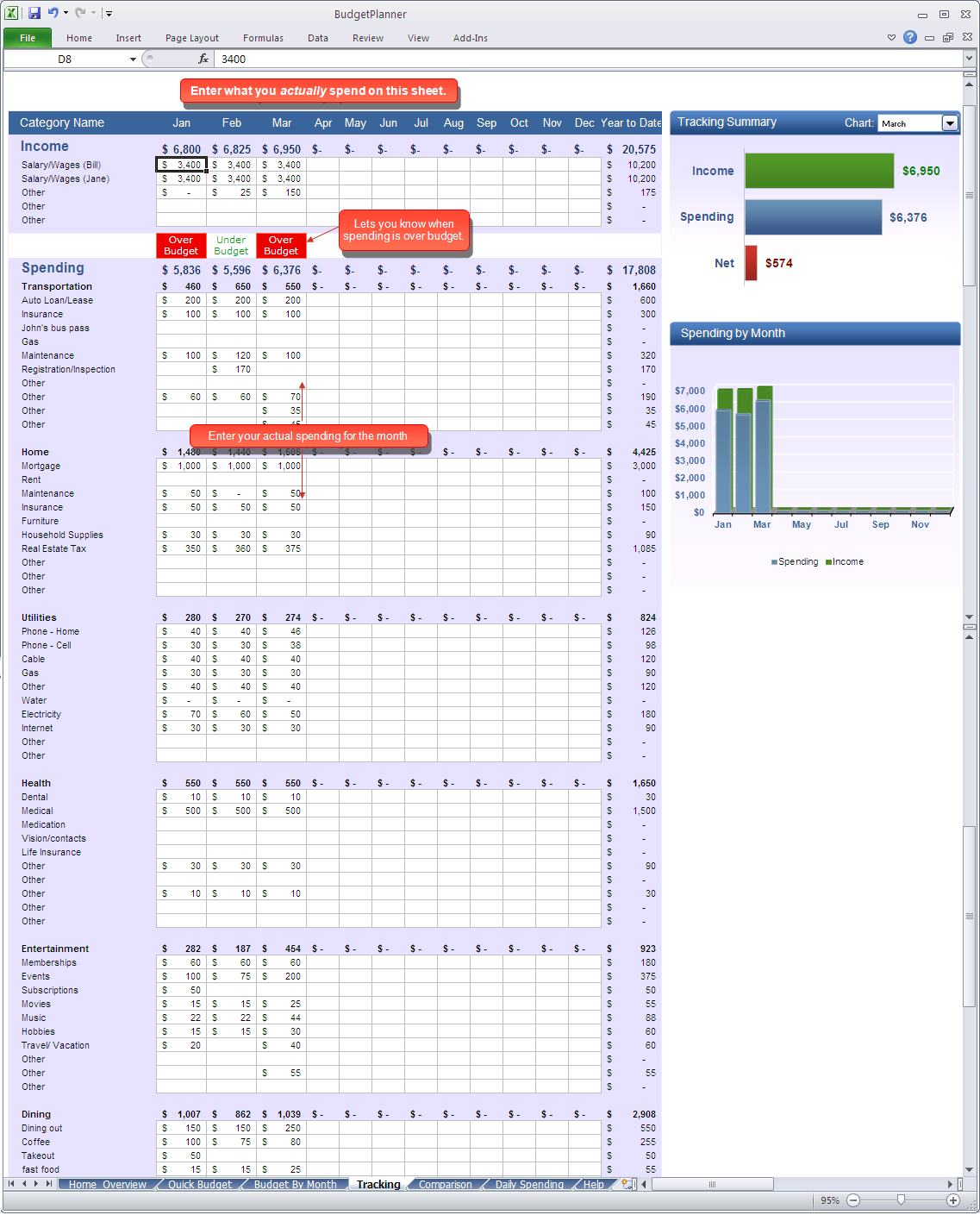 download budget planner