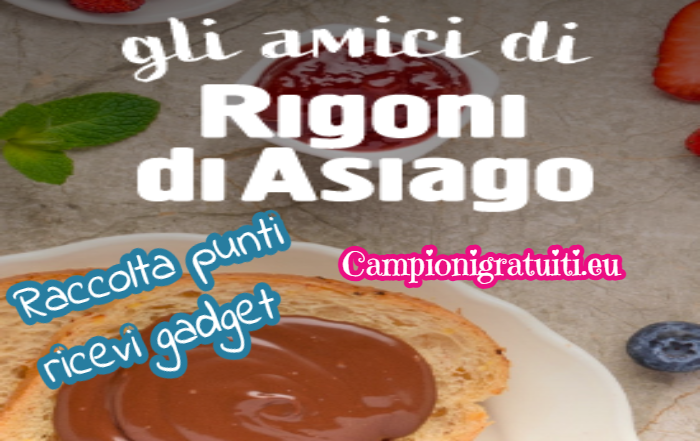Raccolta punti Gli amici di Rigoni di Asiago ricevi gadget