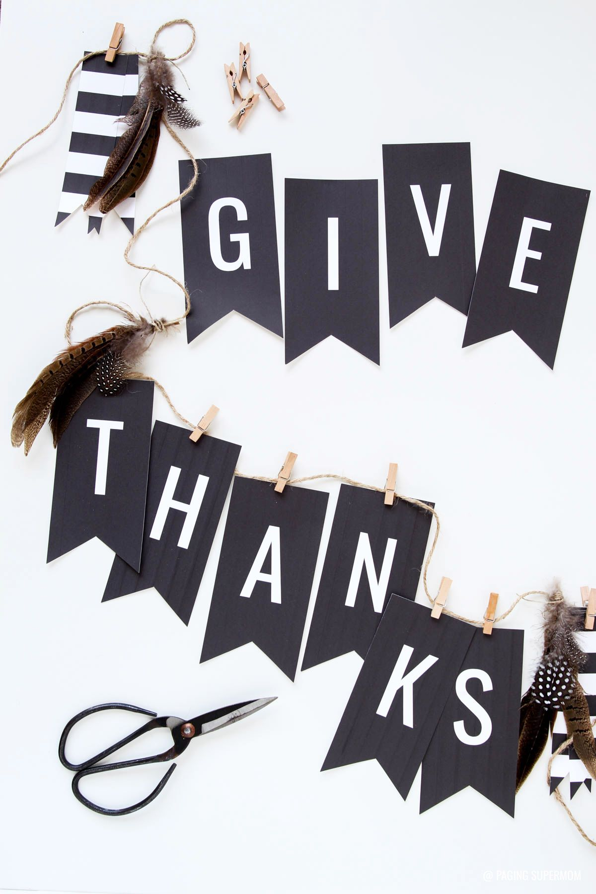 image about Thanksgiving Banner Printable identify Totally free Thanksgiving Banner - \