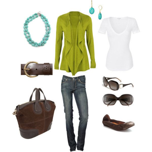 Polyvore Casual | Lime/Turquoise Casual - Polyvore on Wanelo