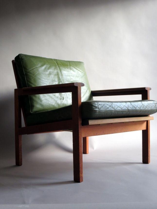Illum wikkelso easy chair n eilersen danish teak leather for Danish design sessel 60er