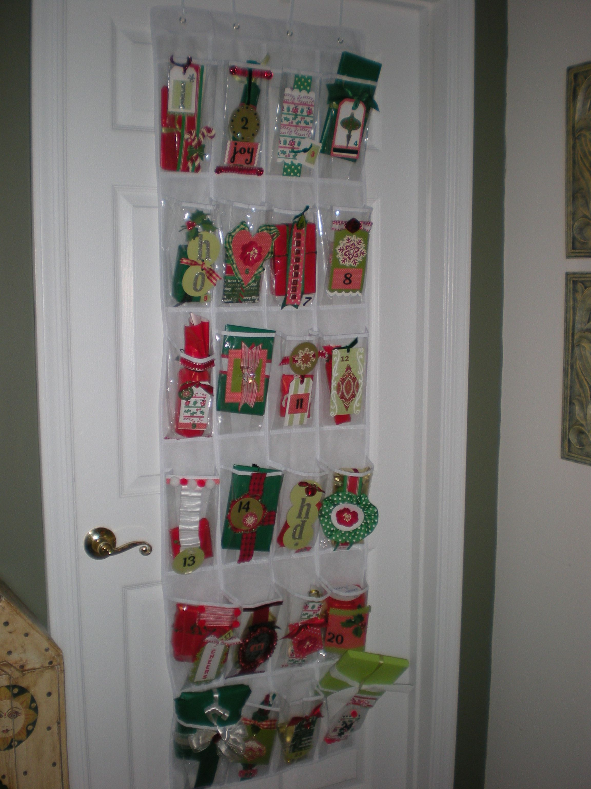 Diy Christmas Countdown Gift Holder Christmas Countdown