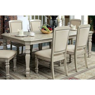 Antique White Dining Room Fair Furniture Of America Caplin Traditional Antique White Dining Table Review