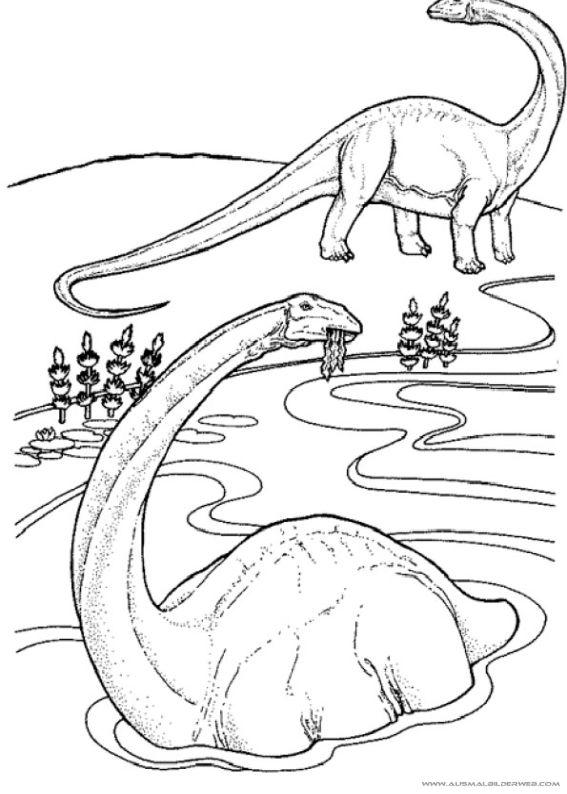 druckbare dinosaurier-malvorlagen | dinosaurus, buku