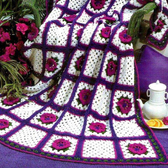 Instant Download Pdf Vintage Crochet Pattern For Granny Square