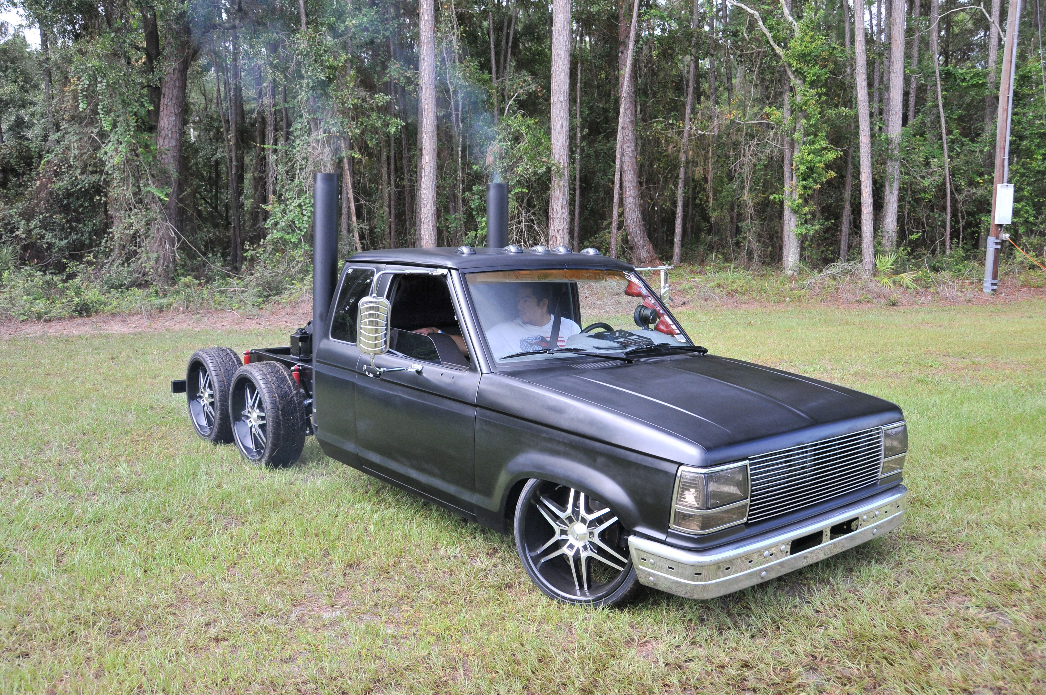 1990 ford ranger with six wheeler modified ford ranger tandem rat rods diesel