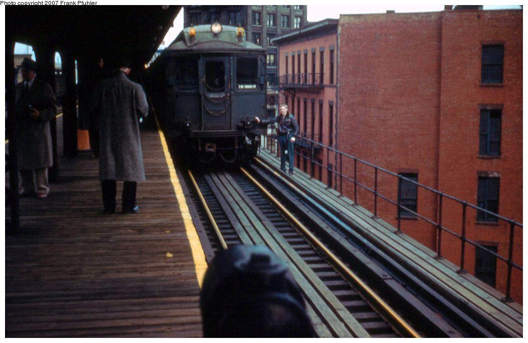Chatham Square Subway Map.Chatham Square Station 3rd Avenue El New York 1955 Trains