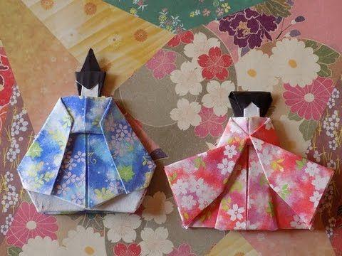 折り紙のおひな様 顔と頭の簡単な折り方作り方 , YouTube