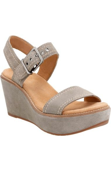 Clarks® Aisley Orchid Wedge Sandal (Women) available at #Nordstrom