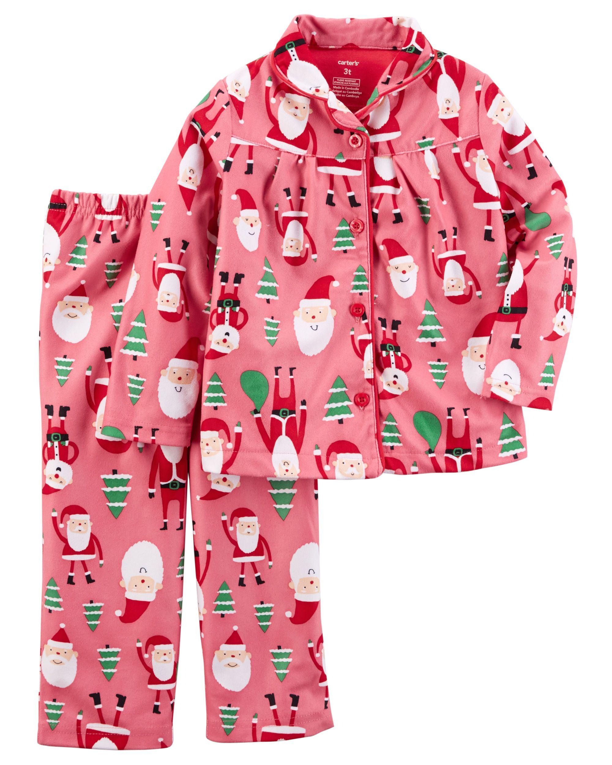 Kid Girl 2-Piece Fleece Christmas PJs  2bfb6c5ca