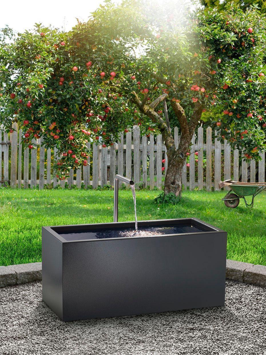 Blickfang Brunnen Metall Garten Cubus Kubus Ihren Aus Der