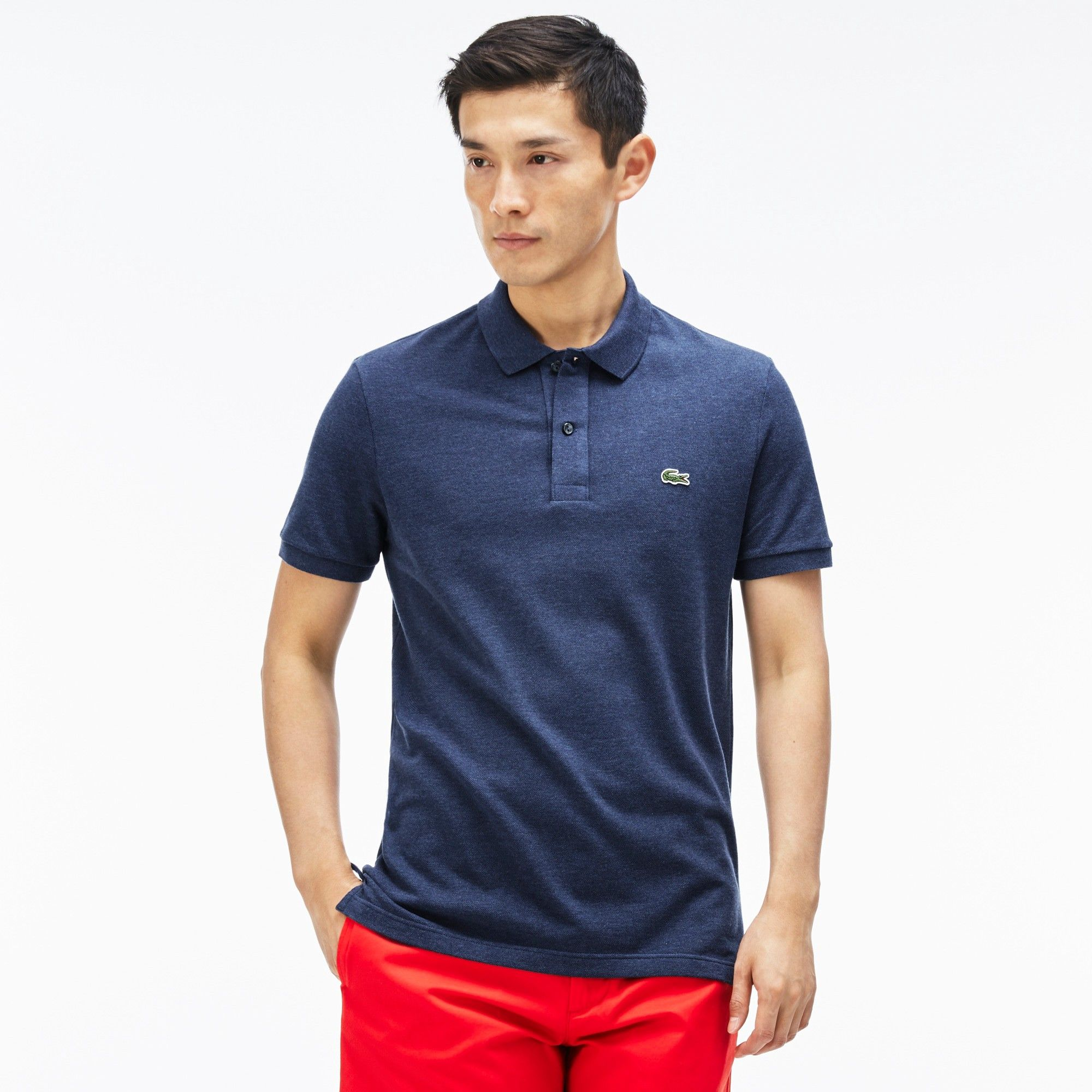 be0f5d3a8 LACOSTE Men's Slim Fit Petit Piqué Polo Shirt - philippines blue chine. # lacoste #cloth #