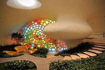 Foto de Euroden SL. #Nautilus Giant Seashell House #Méjico #ArquitecturaDeColores