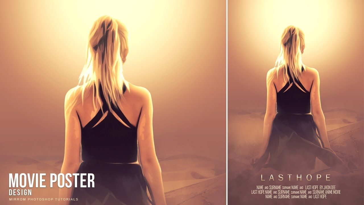Today S Photoshop Tutorial I Will Show You How To Create An Anime Movie Poster Art In Photoshop Movie Poster Photoshop Movie Poster Art Photoshop