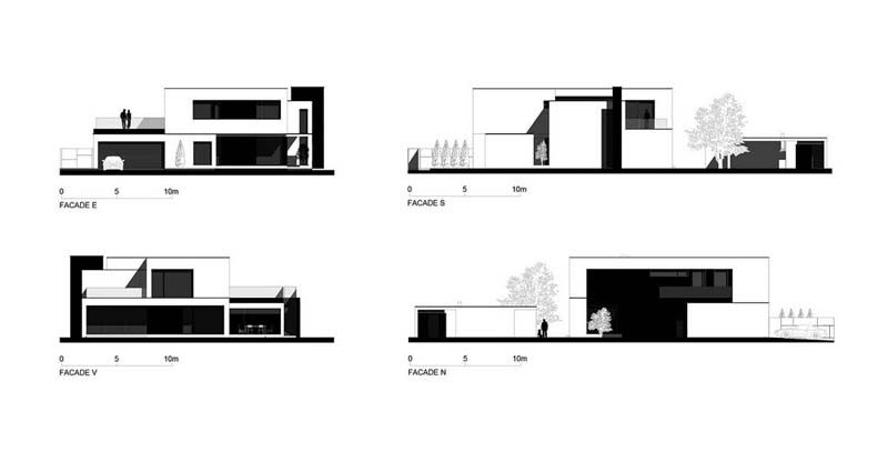 Amazing Modern C House By Parasite Studio Timisoara Romania House Design Timisoara Architecture Parasite house floor plan