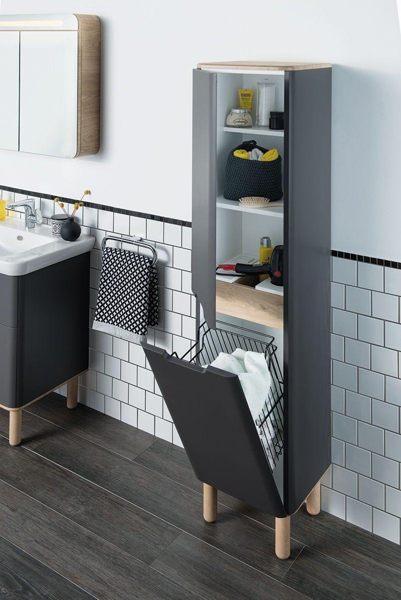Ein Im Schrank Integrierter Wasche Container Vereinfacht Die Lagerung Der Schmutzwasche Mehr A Aufbewahrung Schrank Bad Aufbewahrung Kleine Wohnung Einrichten