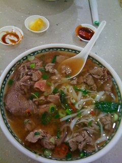 It doesnt look like much - but this is my all time favourite food. Vietnamese Rare Beef Pho. Yum!