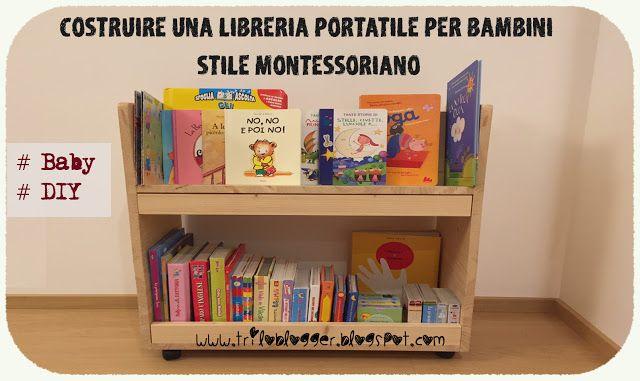 Mobili Portagiochi Per Bambini : Come realizzare una libreria portatile per bambini in stile