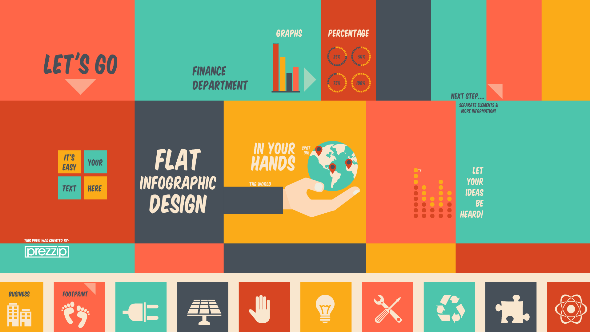 Flat Infographic Design Prezi Template All The Space You Need To