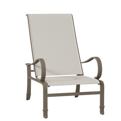 Tropitone Torino Sling Recliner Patio Chair Seat Color Sparkling