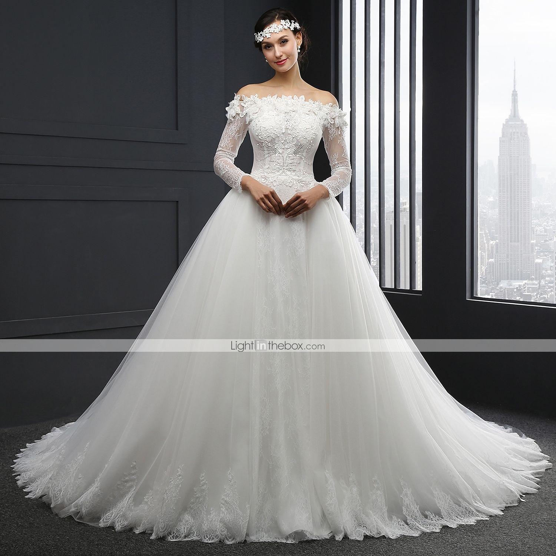 ba6c3b60033 De Baile Vestido de Noiva Cauda Capela Tomara que Caia Tule com Com  Apliques de 4823212 2016 por R 946