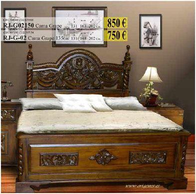 Cama en madera Tallada | Muebles para el hogar | Pinterest | Madera ...