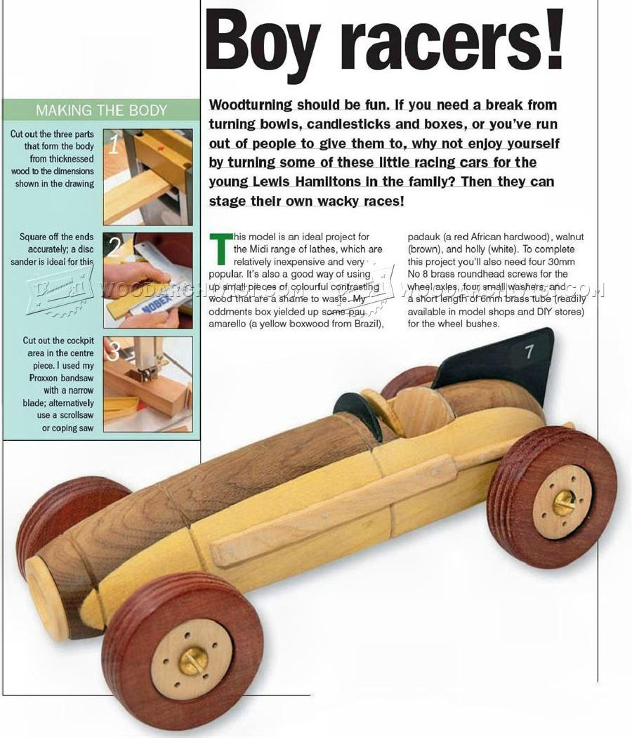 wooden toy racing car plans - wooden toy plans woodturning