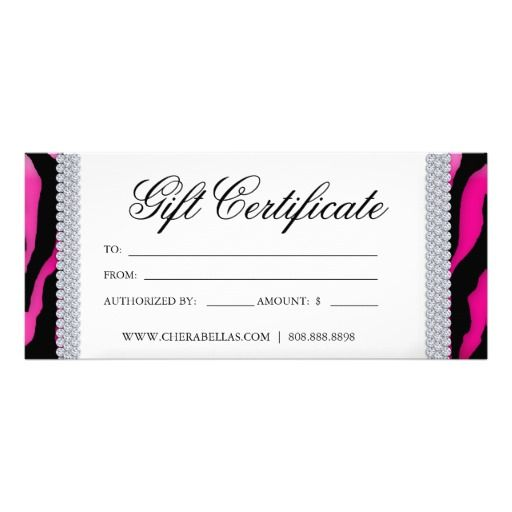 Gift Certificates Tanning Salon Jewelry Pink Black Zazzle Com In 2021 Printable Gift Certificate Gift Certificate Template Free Gift Certificate Template