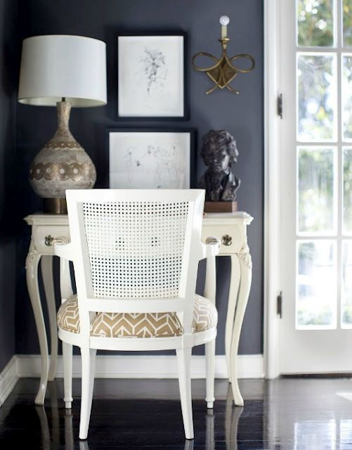 New twist on monochrome - navy walls