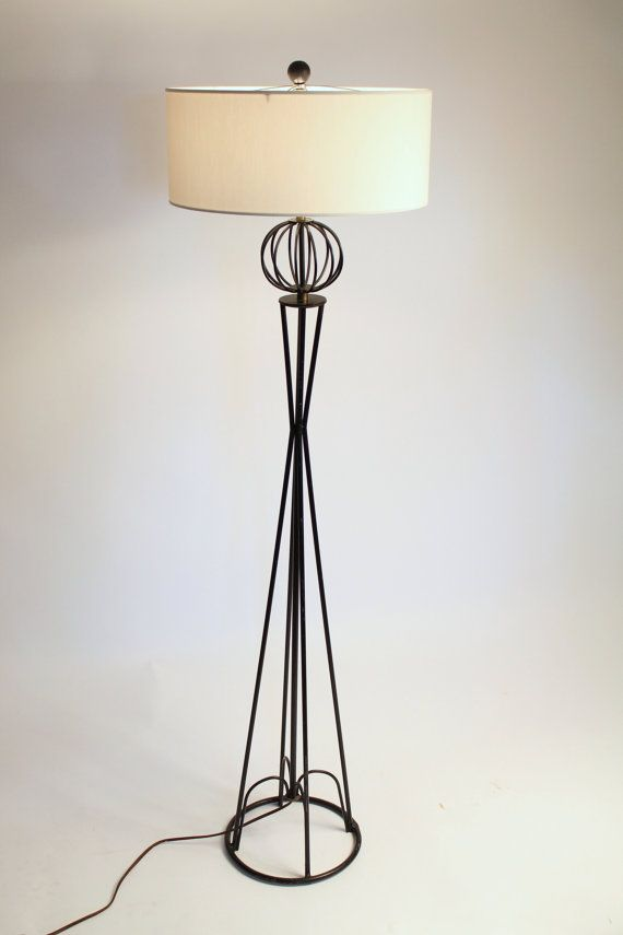 Wrought Iron Floor Lamps Custom 50S Wire Floor Lamp Wrought Iron In The Mannersvintagelampden Inspiration Design