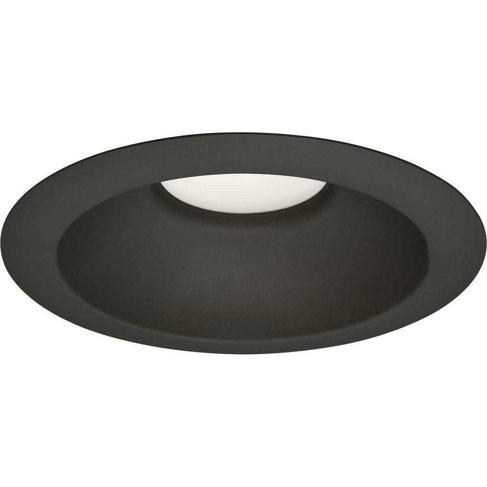 Fits Housing Diameter: 4-in Kichler Barrington Distressed black and wood Baffle Recessed Light Trim