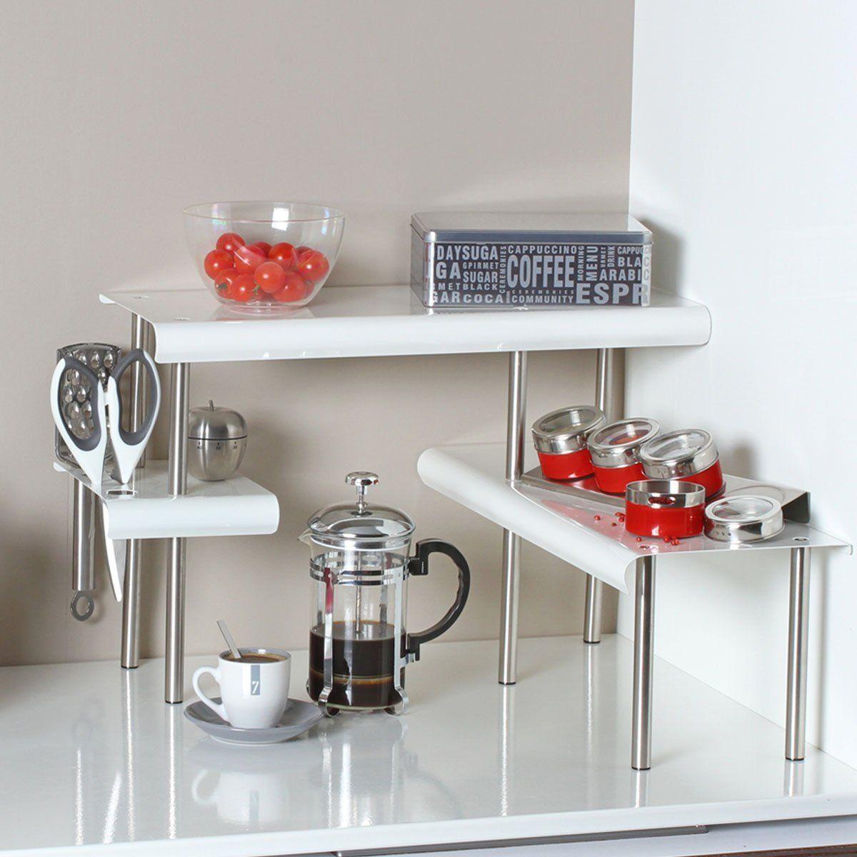meuble cuisine etagere angle