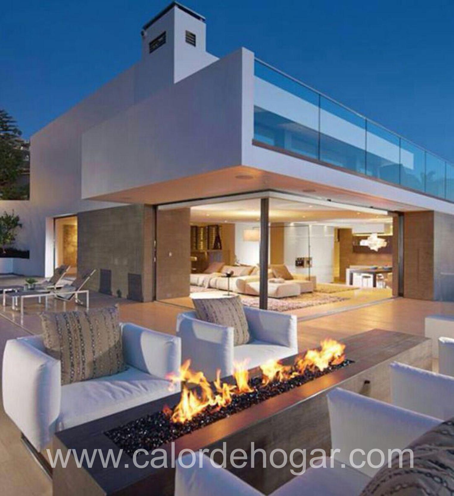 Chimenea de gas para exterior loft basic chimeneas for Loft modernos exterior