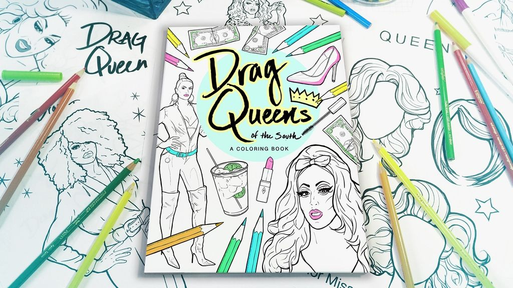 A 48 page coloring book celebrating all things DRAG. Color real life ...