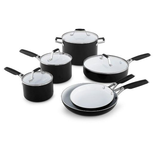 The Select By Calphalon Ceramic Nonstick 10 Piece Cookware Set