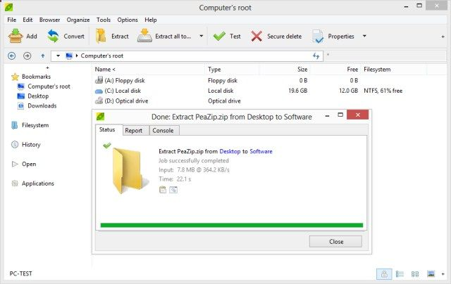 PeaZip 530- An OS-portable archiver tool (released for Windows and
