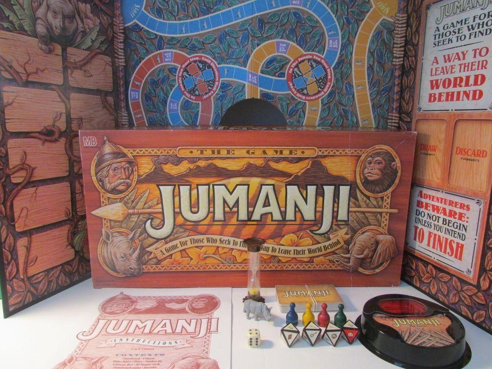 JUMANJI Board Game 100 COMPLETE w/ Box 1995 Milton