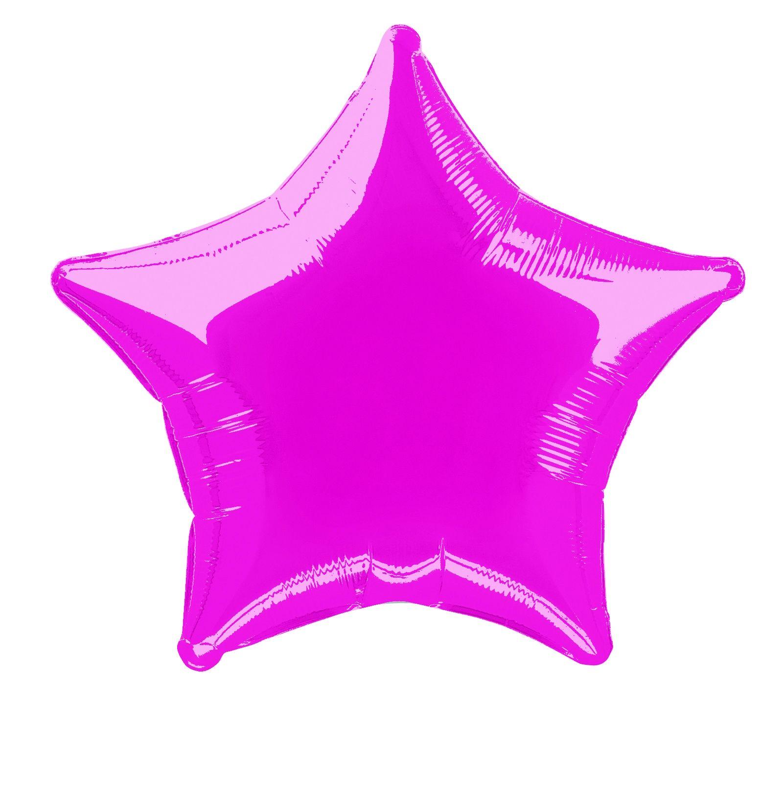 Metallic Hot Pink Star Shaped Foil Balloon