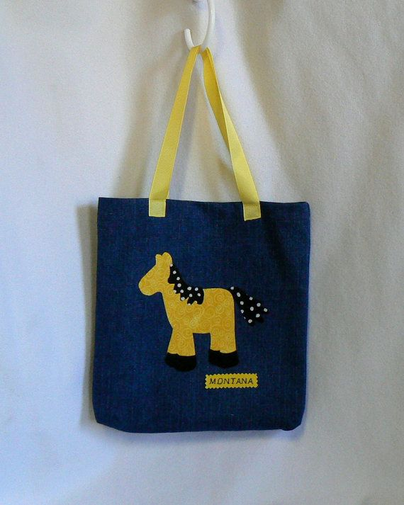Tote Bag For Kids Personalized Book Car Trip By MontanaTwirls