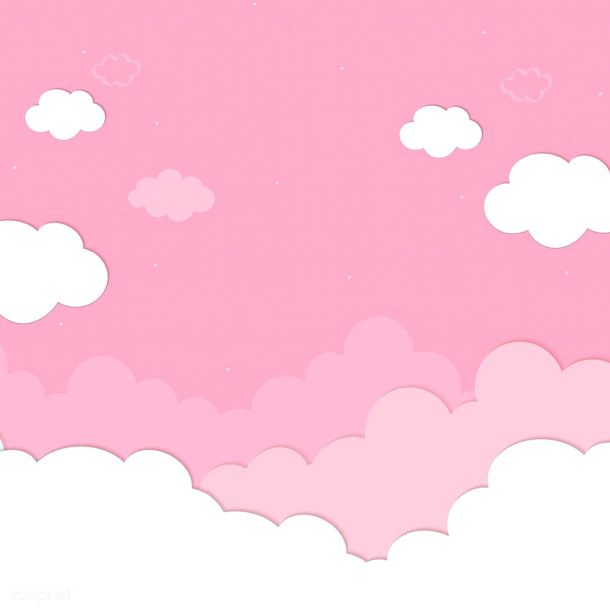 Download Free Illustration Of Pink Sky With Clouds Wallpaper Vector By Chayanit About Backdrop Background Blank Cloud Wallpaper Pink Sky Cloud Illustration