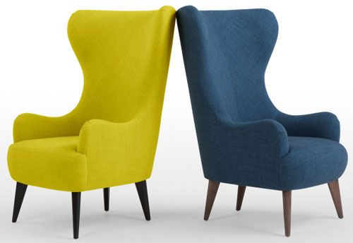 Retro Style Bodil High Back Chair At Made High Back Chairs High