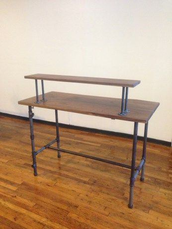 our complete steel pipe standing desk pipe in 2019 diy standing rh pinterest com
