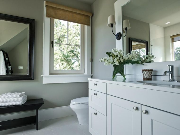 Salle de bain gris et blanc en 27 modèles de déco tendance