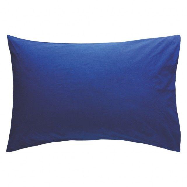 WASHED Cobalt blue stonewashed rectangular pillowcase